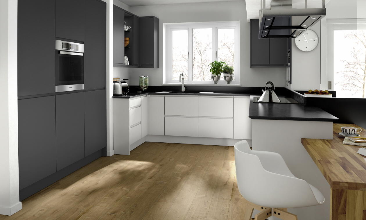 Remo Matt Graphite Porcelain Kitchen
