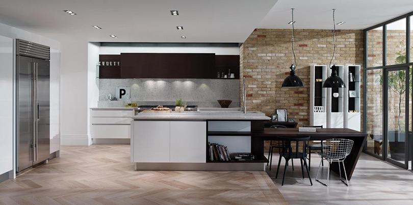 Seamless handless kitchens