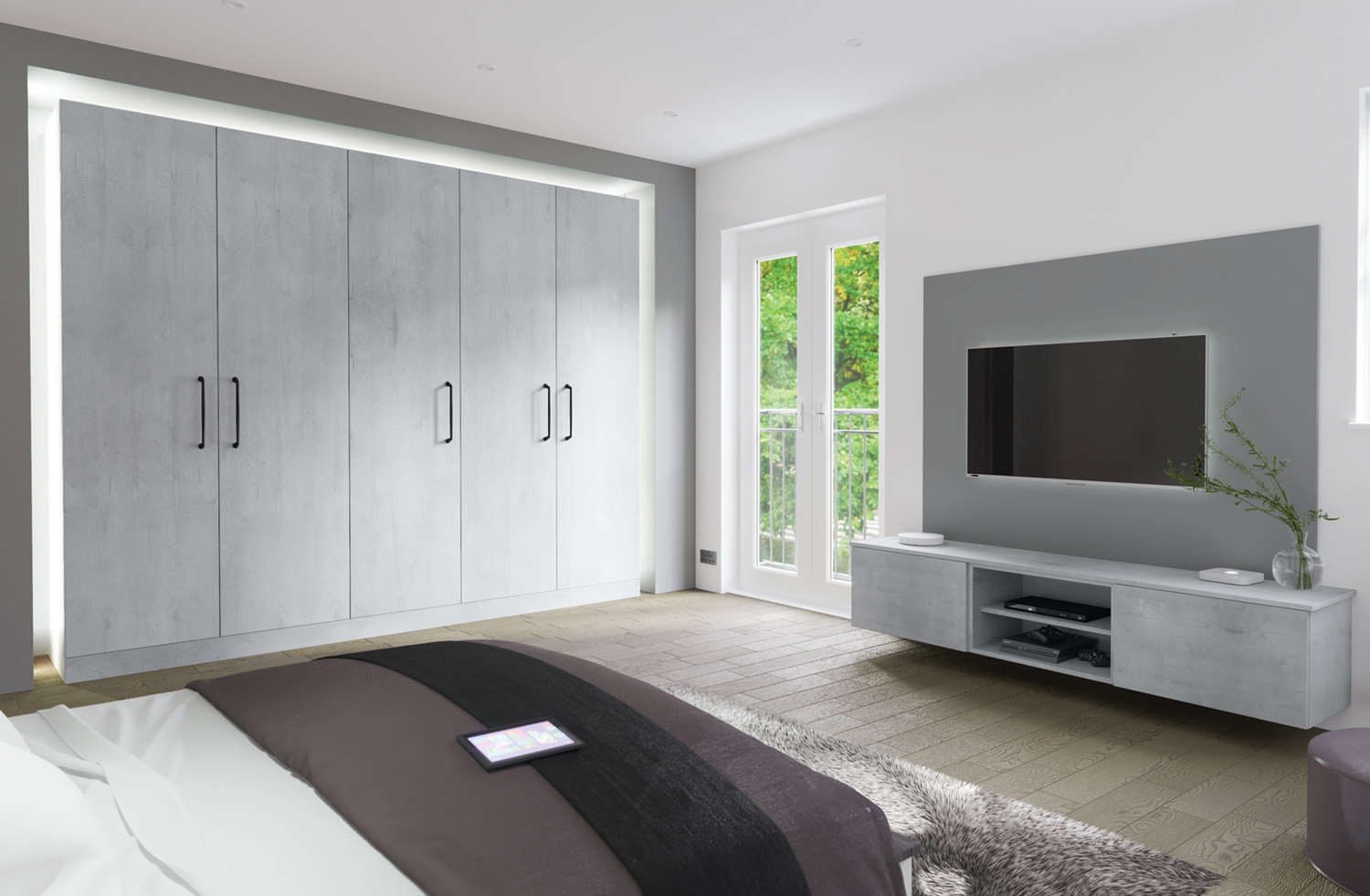 browns modern bedroom